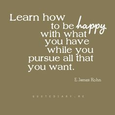 learn how to be happy
