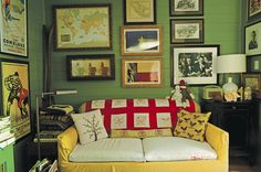 Get the lo-fi, cozy look of mismatched sofa cushions (or hide worn spots) with a colorful pillowcase. Just slip one over the cushion, and pin excess fabric if necessary. It's cheaper than upholstery—and so much easier.