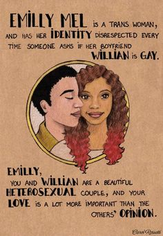 Emilly Mel and Willian by Carol Rossetti #Trans #LGBT #Love #Feminism
