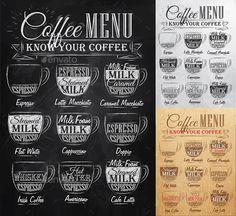 Set of Coffee Menu - Food Objects
