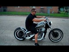 Houston Retro Bobbers matte black and candy black metal flake graphics bobber walk around - YouTube