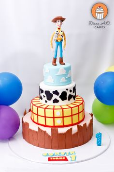 Toy Story themed cake - woody as the star!