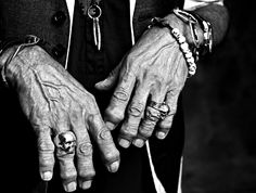 One of Francesco Carrozzini's photo's, Keith Richards hands #greatphoto #legend