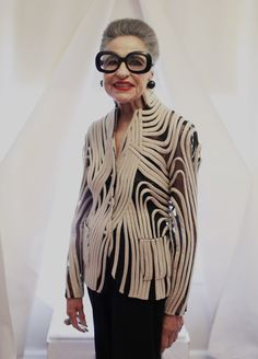 Joy Venturini Bianchi for Advanced Style in a Ralph Rucci jacket