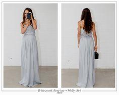 Caroline Campion Couture Silk #bridesmaid #separates.  Available online carolinecampion.com
