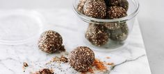 These naturally sweetened balls with a burst of peppermint. Great for anyone reducing the amount of refined sugar in their diet.