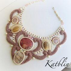 Beautiful embroidered jewelry by Kate Blinova | Beads Magic bead embroideri