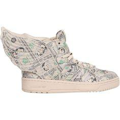a54cb7d6499 ADIDAS BY JEREMY SCOTT Js Wings 2.0 Money High Sneakers - Beige ( 150) ❤