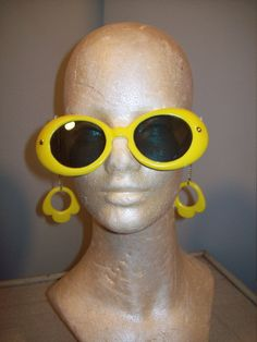Vintage 60s Mod Novelty Bright Yellow by atomicbettiescloset #GotVintage #Vintage #Jewelry