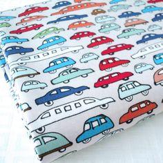CAR FEST - GREY - CARS 100% COTTON FABRIC kids children RETRO BOYS blue beige   eBay