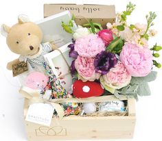 We love this Mother's Day gift box by Gratitude Collaborative! PS How cute is that mushroom baby rattle from The Little Market?!