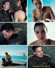 """""""You're a man..."""" """"Yeah... I mean... do I not look like one?"""" Wonder Woman"""