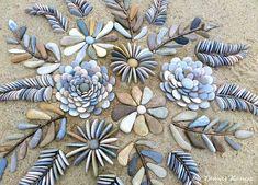 Pebble Mosaic, Pebble Art, Mosaic Art, Mosaic Garden, Garden Art, Ephemeral Art, Rock Sculpture, Sculptures, Rock Design