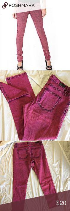 "Lip Service Jett Pink Acid Wash Jeans Neon pink acid wash jeans in excellent condition. Waist 18"" rise 9.5"" inseam 31.5"" length 40"" Lip Service Jeans"