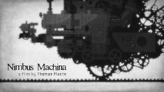 There's a great paper cutout feel to Thomas Plaete's short film Nimbus Machina. An engineer in a monstrous steampunk vehicle must flee the storm he created.