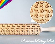Embossing rolling pin for cookies laser engraved cookie decorating molds skull skeleton skulls Halloween death's-head cookies by RainbowRollingPins on Etsy https://www.etsy.com/listing/244812443/embossing-rolling-pin-for-cookies-laser