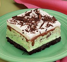 St. Patrick's Day Mint Chocolate Freezer Dessert
