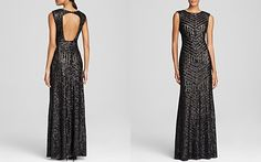 Ball  Vera Wang Sleeveless Sequin Embellished Gown - Bloomingdale's Exclusive