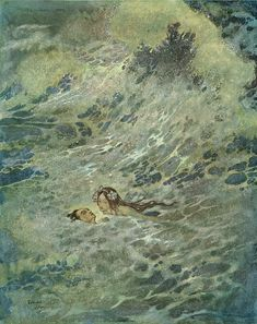 Edmund Dulac illustration of The Little Mermaid