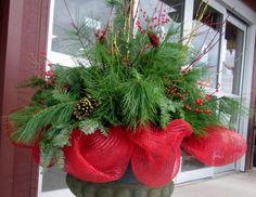 christmas planters - Google Search