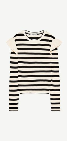 Zara Sweater With Shoulder Frill
