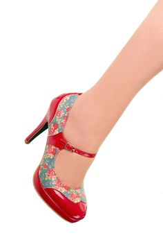 Trash Monkey ** BANNED - Mary Jane Shoe in Red