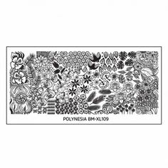 Polynesian Themed Nail Art XL Stamping Plate: Flower Buffet Island Style Manicures nail stamping plates lei beach rectangular plates have full nail designs buffet style Nail Plate, Nail Stamping Plates, Monster Nails, G Nails, Manicures, Lotus Plant, Bundle Monster, Styling A Buffet, Image Plate