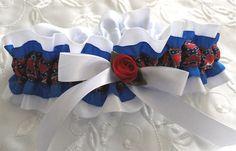 Blue and White Rebel Flag Garter-1