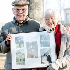 This adorable couple right here... they are my grandparents! That photo collage they are holding includes the photo of their first day of marriage. I was inspired by @marymarantz  to capture them 60 years later in their marriage journey.  On this trip my Grandmother minded my 2&3 year old boys in our hotel room while I parked the car and grabbed our bags. When I got back 10 minutes later she said Missy I dont know how you do it! With a big grin on her face. I said Grandmother you had 3 boys…