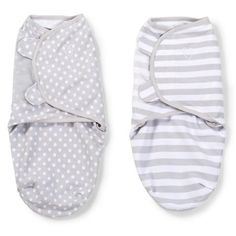 Summer Infant SwaddleMe Original Swaddle Grey Dot and Grey Stripe - Small 2 pack Kiddicare.com
