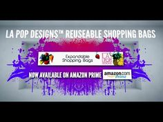 L.A. Pop Designs™ Reuseable Shopping Bags - YouTube http://www.youtube.com/watch?v=OJhPa3YUysQ