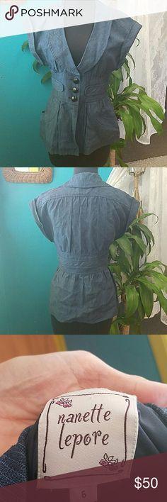 Nanette Lepore linen jacket Excellent condition! Nanette Lepore Jackets & Coats Blazers
