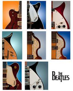 Beatles Instruments - the-beatles fan art