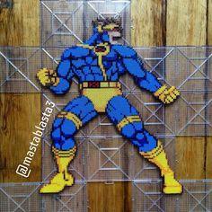 Cyclops - X-Men perler beads by Perler Bead Art, Perler Beads, Super Pixel, Marvel Comics, Geek Perler, Pixel Art Grid, Bookmark Ideas, Mini Iron, V Instagram