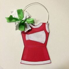 Cheerleader Ornament   personalized by HazelMartinDesigns on Etsy