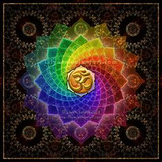 lotus om mandala print by lilyas on deviantart Abstract Tree Painting, Mandalas Painting, Mandalas Drawing, Yoga Studio Design, Mandala Print, Mandala Tattoo, Rainbow Flowers, Purple Flowers, Yoga Inspiration