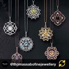 Thomas Sabo, Chakra, Collars, Embroidery, Sterling Silver, Diamond, Instagram, Jewelry, Needlework