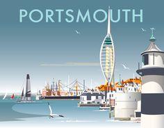 Visit Portsmouth - Official Portsmouth Tourist Information Site Minimal Travel, Paris Travel, Travel Uk, Travel Packing, Travel Guide, British Travel, Tourism Poster, Vintage Travel Posters, Poster Vintage