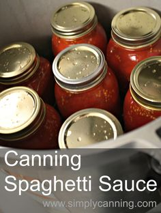 Canning Spaghetti Sauce with meat. Super easy directions perfect even for the beginner. https://www.simplycanning.com/canning-spaghetti-sauce.html