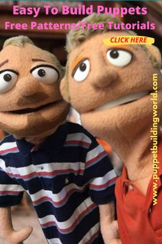 Build your own Muppet-style puppet. With our free patterns, you can make a variety of puppets by changing the eyes, nose, hair and other features. Using inexpensive and easily obtainable foam and other common materials you can make a great puppet. Articles, videos and patterns are available at Puppet Building World. #Muppet Pattern #puppetpatterns Ventriloquist Puppets, Puppet Patterns, Sock Puppets, Puppet Making, Build Your Own, Ministry, Free Pattern, Articles, Teddy Bear