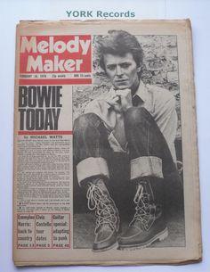 MELODY MAKER - February 18 1978 - DAVID BOWIE / EMMYLOU HARRIS / ELVIS COSTELLO