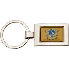 LA Galaxy Arched Rectangle Keychain