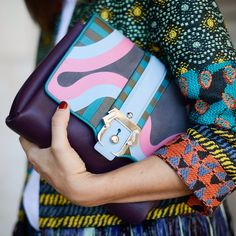 Spring 2015's Top Handbag Trends | The Zoe Report--- high impact color