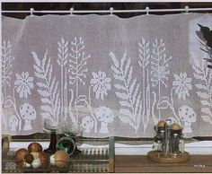 Архив альбомов - crochet - cortinas - curtains - Another! Crochet Patterns Filet, Crochet Curtain Pattern, Crochet Curtains, Curtain Patterns, Lace Curtains, Crochet Tablecloth, Crochet Doilies, Thread Crochet, Crochet Scarves