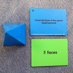 Exploration of the Montessori Sensorial Materials, the Geometric Solids using cards from Nienhuis.