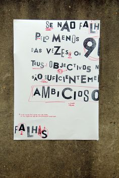 Ambition Poster x3 by Inês Vieira, via Behance