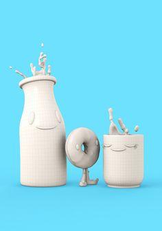 Happy Breakfast - Happy Toast by Teodoru Badiu, via Behance