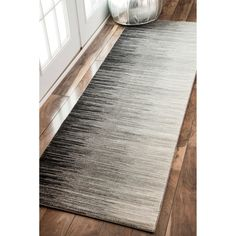 nuLOOM Geometric Abstract Sripes Fancy Black Runner Rug (2'8 x 8') | Overstock.com Shopping - The Best Deals on Runner Rugs