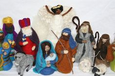 Needle Felted Nativity Set  Waldorf Inspired  by heartfeltpassion, $70.00