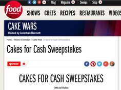 Enter The Food Network Cakes for Cash Sweepstakes for a chance to win 1 of 4 $10,000 Checks!